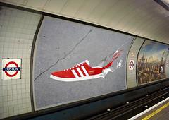my ad underground (kin3tikmedia) Tags: blur london photoshop underground paint image ad perspective smudge warp billboard brushes adidas effect tool gazelles cs3