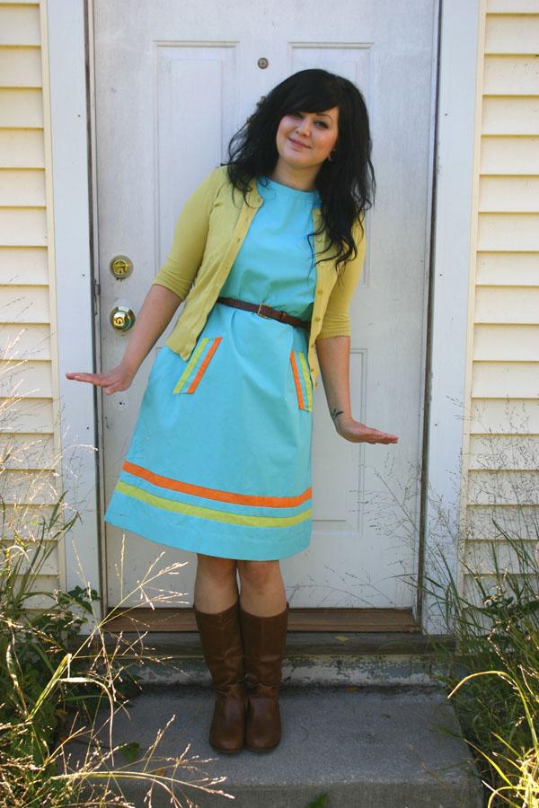 vintage aqua dress