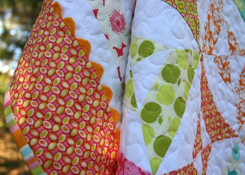 zinnia quilt - edging