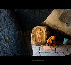 Company of a woman (My Trip Guide) Tags: travel tourism saint stone karnataka carvings swami hampi saffron asi historicalmonument stonecave mtv233 femalestructure femalestonecarvings uttarakannda