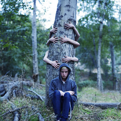 Caring is creepy. (David Talley) Tags: feet halloween forest jack hoodie scary hands woods hand arms jean ghost creepy spooky demon haunting creep