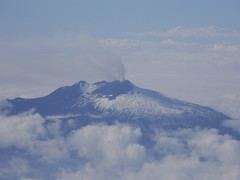 Etna from the air, 28 October 2011 (etnaboris) Tags: italy mountain snow airplane volcano flight aerial sicily etna 2011 newsoutheastcrater