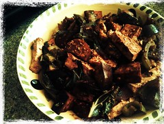 Eggplant and tofu lunch
