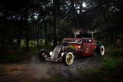 Rat-Rod (Garrett Wade (v2lab)) Tags: wild lightpainting classic halloween car canon dark outside outdoors grid crazy orlando cool woods rat florida outdoor smoke flash smoking garrett 7d horror rod daytime fl oviedo alienbee macs whitewall cst ctsv ratrod csr centralflorida alienbees illest gridspot hondatech b800 strobist ab800 csrb cybersync canibeat garrettwade garrettwadephoto