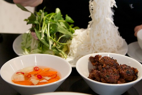 Vermicelli noodles with hanoi style pork