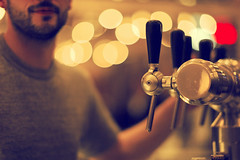 Under pressure (dimitri_ca) Tags: beer bar blurry pub bokeh waitress serving server waiter coffeebar selectivefocus underpressure beerbar flashbulb beerpump bokehdots bokehdot beyondbokeh wannaabeer