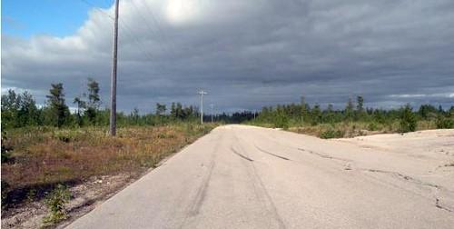 abandoned street, Pine Point (via John Sandlos, via Network in Canadian History & Environment)