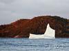 Defying the Inevitable (WanderWorks) Tags: ocean autumn trees canada ice berg newfoundland evening labrador hill floating shore iceberg eisberg 冰山 айсберг 빙산 氷山 toppurinn dsc4591rc1fgm हिमशैल جبلالجليد