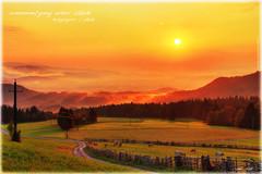 Villach am Morgen 2_HDR (peter pirker) Tags: morning red sun rot canon austria sterreich nebel krnten carinthia sonne morgen hdr fok villach flickraward peterfoto eos550d peterpirker