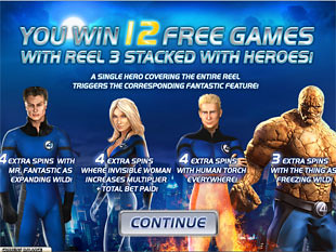 free Fantastic Four 50 Lines free spins