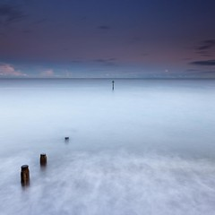 Pink Afterglow [Explored Oct 31 2011] (Martin Mattocks (mjm383)) Tags: longexposure pink sea sky seascape beach clouds canon square movement horizon explore devon afterglow groynes teignmouth leefilters mjm383 martinmattocksphotography
