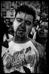 Zombie Walk (051) - 23Oct11, Paris (France) (°]°) Tags: portrait blackandwhite bw woman man paris girl dead death scary blood noiretblanc zombie walk mort femme fear grain makeup nb parade spooky panic gore horror terror sang zip maquillage marche homme cutup horreur peur livingdead terreur panique zombiewalk effrayant mortvivant fermetureéclair dépecé