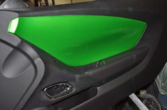 "2011 Synergy Green Camaro 5th Gen custom door panel install • <a style=""font-size:0.8em;"" href=""http://www.flickr.com/photos/85572005@N00/6302943089/"" target=""_blank"">View on Flickr</a>"