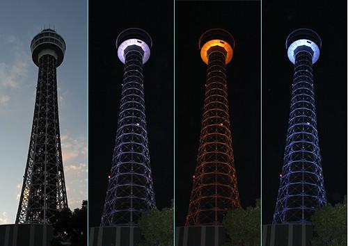 横浜マリンタワー 光の演出