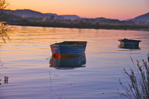 Sunset Boats in Colindres