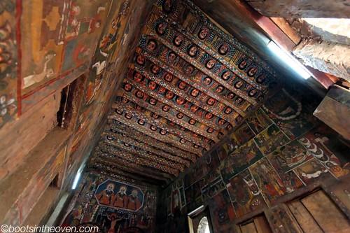 Richly painted ceiling, Debre Birhan Selassie