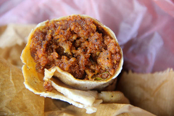 My Glorious Sri Lankan Chorizo Burrito