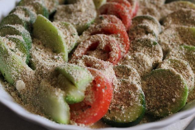 Squash and Tomato Gratin
