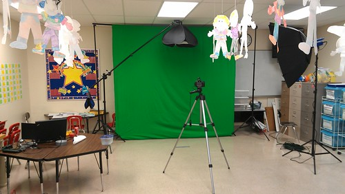 Green screen work at School Carnival