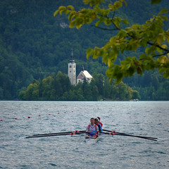 Slovenian men preparation for the World Cup in Bled (Bn) Tags: world travel blue girls summer two mountain lake holiday alps castle feet water swim geotagged island swan topf50 women hiking relaxing ducks tourist medieval romance international slovenia alpine wrc bled rowing romantic regatta championships picturesque idyllic kasteel slopes barna glacial slovenian 2011 cerkev marijinega vnebovzetja blejski 50faves pletna slnblejskiotok geo:lon=14097648 geo:lat=46366891