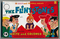 Vintage Flintstones Chalk (grandma groovy) Tags: vintage chalk wilma pebbles betty fred 1960s groovy barney flintstones 1963 hannabarbera screengems advancecrayon
