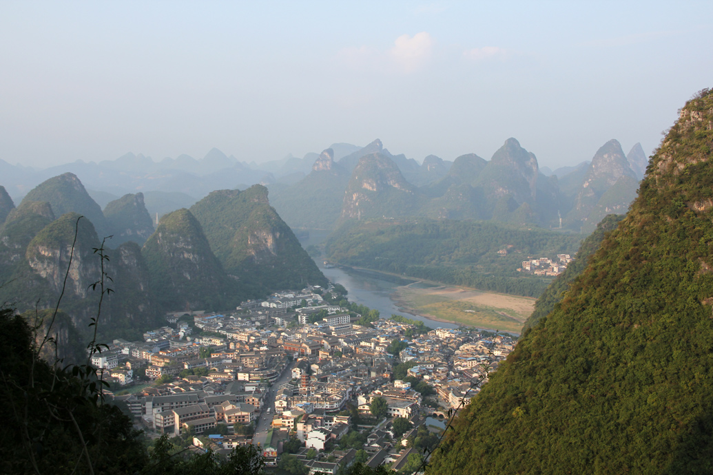 Yangshuo China from the top of TV Tower