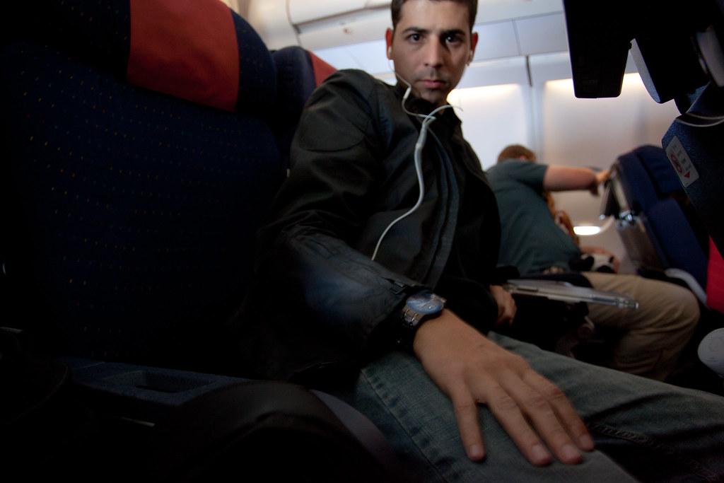 Autorretrato num avião