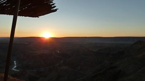 Sunset at Fish River Canyon