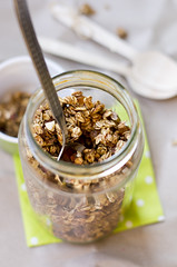 Ise tehtud msli / Home-made muesli (Dagris) Tags: breakfast raisins homemade honey almonds muesli breakfastcereal cookingathome