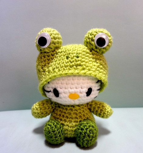 Frog Amigurumi Hello Kitty