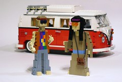 Smelly Hippies (Ochre Jelly) Tags: hippies vw volkswagen 60s lego hippy hippie van woodstock moc afol