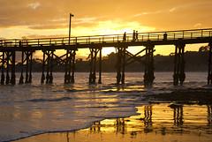 Now I Know (Damian Gadal) Tags: california november sunset cloud beach silhouette geotagged pier nikon goleta 2011 d80