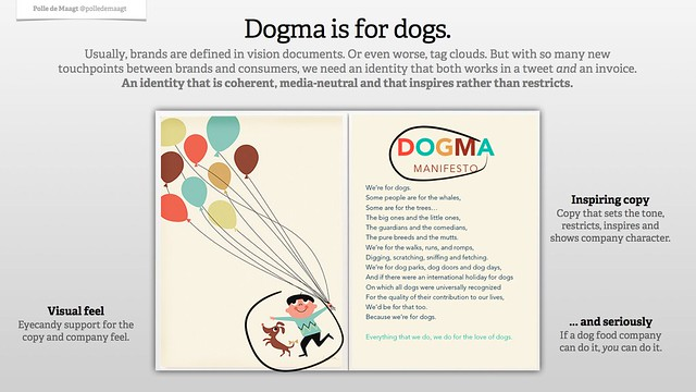 Brands and their social voice: Dogma is for dogs