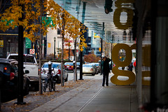 """""""g"""" in autumn (Junnn) Tags: street autumn trees canada tree vancouver downtown g osanpo canonef135mmf2lusm 135mmf2 canoneos5dmarkii"""