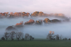 Misty Layers (Martin Third) Tags: uk greatbritain autumn trees sunset cloud mist fall weather fog evening scotland europe afternoon view britishisles unitedkingdom britain dusk hill explore gb layers linlithgow lothian westlothian beecraigs flickrexplore cockleroy beecraigscountrypark canoneos50d