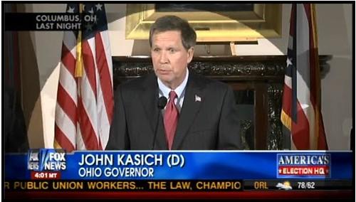Fox News Kasich chryon error
