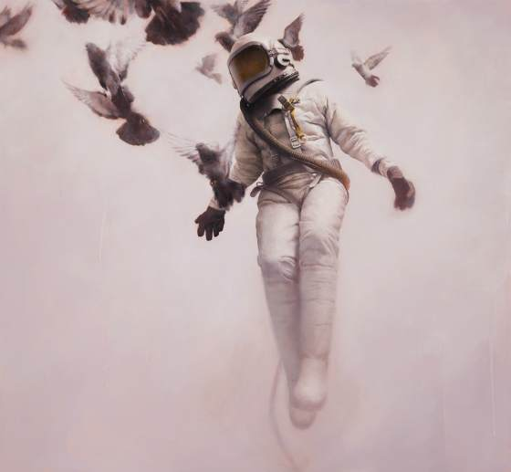pinturas de astronautas futuriastas