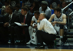 Chambers Watches the Game Unfold (acaben) Tags: basketball pennstate collegebasketball ncaabasketball psubasketball pennstatebasketball coachchambers patrickchambers