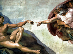 Michelangelo - The Creation of Adam, 1512 at Sistine Chapel - The Vatican, Rome Italy (mbell1975) Tags: italy vatican rome adam art museum painting italian gallery museu chapel musée musee m creation museo masters michelangelo renaissance muzeum sistine the müze 1512 museumuseum