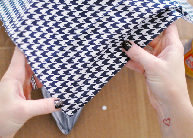 Houndstooth Shoes DIY - 10