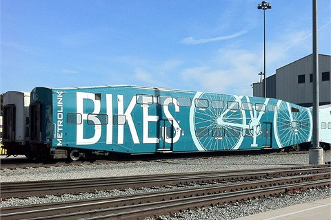 Metrolink bicycle train car