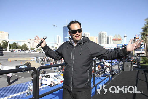 "Jarod DeAnda of CapitalA ""official voice"" of Formula-D at SEMA 2011"
