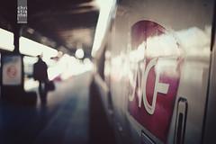 Paris Gare de lest (ifeatme) Tags: light paris france reflection station train vintage 50mm nikon soft dof bokeh 14 retro passenger nikkor tones tgv sncf wideopen vintagelook bokehlicious d700 garedelest nikond700
