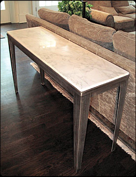 Rocky Top Metal Hallway Table