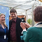 Frances photographs Ian Rankin and Anna Burkey