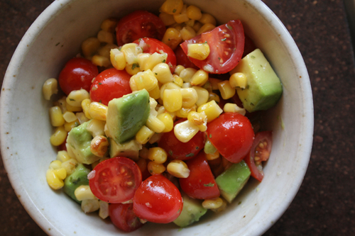 tomato, corn, avocado & lime