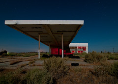Desert Gas (Noel Kerns) Tags: california abandoned station night force desert air north gas mojave edwards base