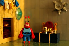 Eugene Krabs (Legoloverman) Tags: office lego spongebob mrkrabs krustykrab eugenekrabs