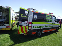 Ambulance Tasmania - Ambulance Volunteer Recruitment (SierraTAS) Tags: blue red lights mercedes high ambulance led paramedic 318 visibility cdi livery sprinter lightbar ambulancetasmania