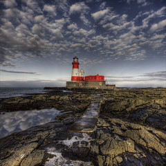 perfect day (Black Cat Photos) Tags: uk england sky lighthouse clouds canon reflections blackcat boats island photography photo rocks europe m northumberland seals boattrip farne hdr farneislands longstone craggs farneisland farns farnislands longstoneisland blackcatphotos